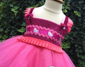 Hello Kitty Inspired Tutu Dress - Hello Kitty Inspired Costume - Hello Kitty Inspired Dress