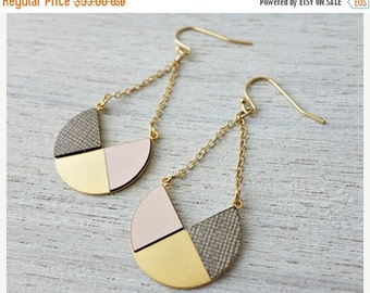 Sale 20% OFF Lizbet Earrings,  geometric signature earrings, Scandinavian design