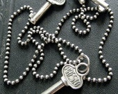small sterling silver key