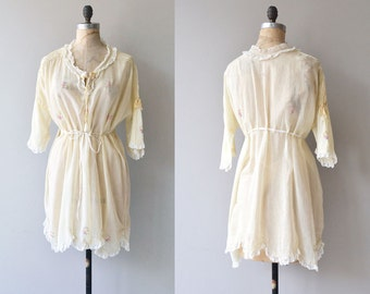 Sotto Voce dressing robe | vintage 1920s lingerie | cotton 20s robe