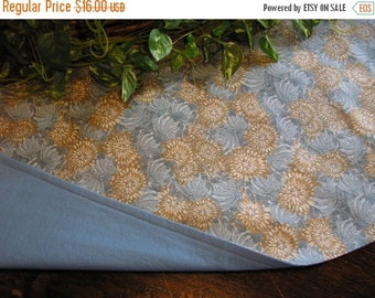 ON SALE Table Runner Padded Floral Print in Blue Brown