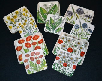Vintage Italian Garden Plates and Coasters
