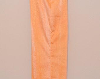 1970's High Waist Orange Tie Dye Bell Bottoms