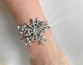 Rhinestone Sunburst Cuff Bracelet-Heirloom Collection
