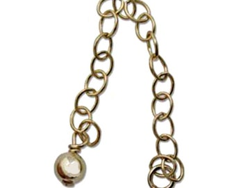 Gold-filled 2 inch Chain Extender with 4mm end bead (1 pc) or ( 4 pc) listing