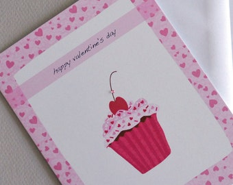Valentine's Day Cupcake, Cherry on top, Cupcake, love, romance, Valentine Cherry