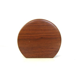 Solid Wood Candle Holder Vintage Heavy wooden Block candle Holder single holder MOD ranch decor Retro Home decor