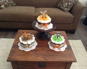 Woodland theme baby shower diaper Cakes Baby Shower Centerpieces in other colors and sizes too
