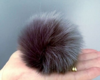 8cm Variety of Colours Faux Fur Pompoms