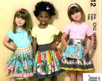 GIRLS SKIRTS  PATTERN / Make Boutique Style Skirts / 3 Styles / Sizes 3 to 6 Or 7 to 14 / Sschool Clothes