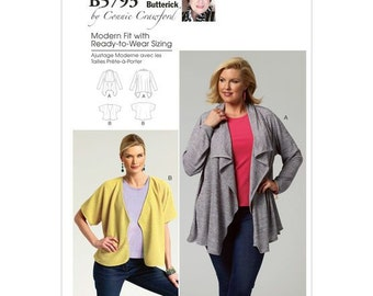 Butterick 5783 Sewing Pattern - Connie Crawford Shawl and Jacket Pattern - B5793 Out of Print Pattern