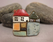 MyLand - Pine Cottage - Collectible 3x3 cm or 1.2x1.2 in. puzzle in stoneware