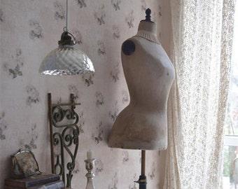 Vintage Shabby Lavender Roses Wallpaper