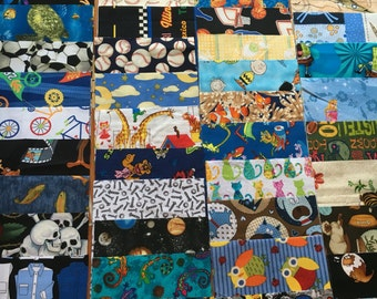 100 6 inch quilt squares BOYS and GIRLS  - Great for I Spy or rag quilt kit / cotton / novelty (LOT H)