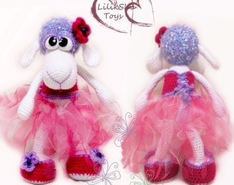 Crochet toy Amigurumi Pattern - Melissa, The Little Sheep.