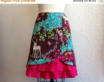 SALE Enchanted Forest ruffle front skirt Sz 4