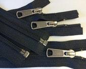 6 Black 5mm YKK Separating Zippers