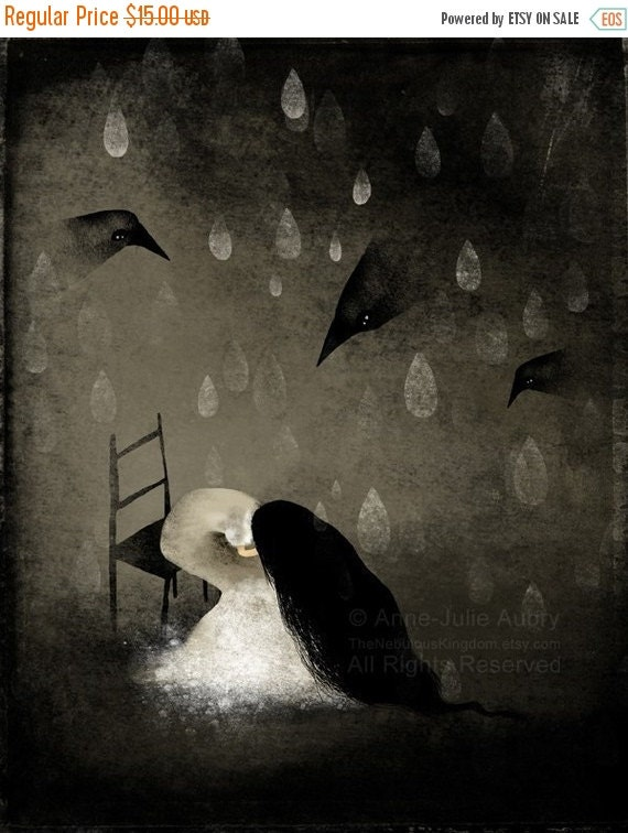 30% Off Halloween Sale - This Glorious Sadness - open edition print