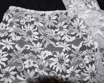 1 Yard Wide Lightly Gathered Lace