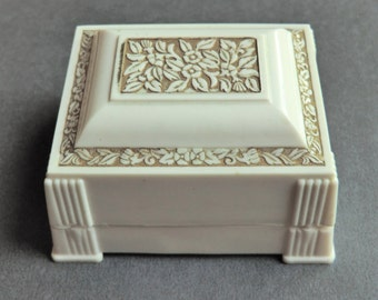 Art Deco Celluloid Ring Box Engagement Wedding Ring Presentation Box Display
