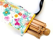 Yarn Swift Cover Yarn Winder Drawstring Padded Bag - Mariposa's Flower