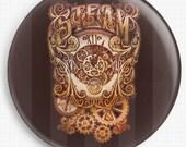 Needle Minder, Licensed Art By Medusa Dollmaker, Steam, Cross Stitch Keeper, Fridge Magnet, Pin Keep
