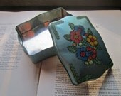 Vintage Tin Box * George W Horner Candy Box * Confectionery Tin * Old Stash Tin * Floral Tin * Weddings and Gifts * Ring Bearer *