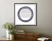 RESERVED FOR TARYN: 16x16 Three Rings Indicocoa Ketubah || Jewish wedding contract illuminated wedding vows