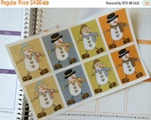 SALE Planner Stickers 8 Full Box Stickers Snowman Stickers Planner Stickers