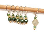 Removable Stitch Markers Crochet Row Markers Green Yellow Locking Markers Knitting Supplies DIY Crafts