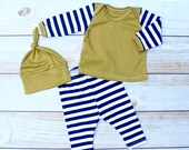 Baby Take Home Set - Newborn 3 Piece Set - Baby Boy Outfit - Baby Clothing - Newborn Going Home Set - Gender Neutral Set - Boy Made To Order
