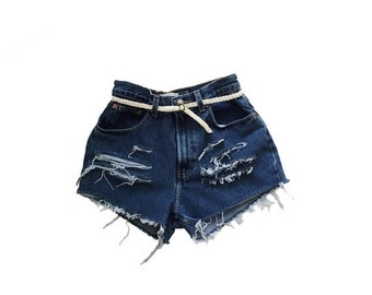 HALF OFF one day ONLY vintage Gap high waisted shorts medium large / gap jeans denim shorts jean shorts ripped jeans distressed jeans gap sh