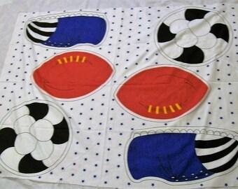Sports Pillow Panel, Football Soccer Fabric Panel, Football Pillow, Soccer Ball Pillow, Kids Pillow Fabric Panel