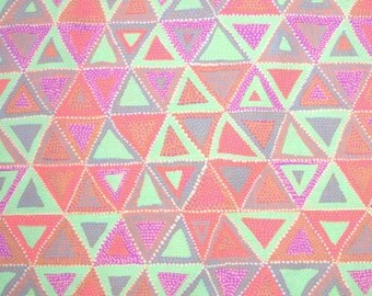 SALE - Brandon Mably, Beaded Tents, Spring, Rowan Westminster, 100% Cotton Quilt Fabric, Geometric, Quilting Fabric