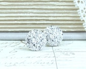 Silver Druzy Studs Druzy Stud Earrings Silver Druzy Earrings Surgical Steel Studs Silver Stud Earrings