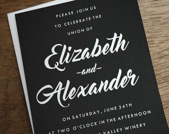 Printable Wedding Invitations - Chalkboard - Black and White Wedding Invitation - Instant Download - Wedding Invitation Template