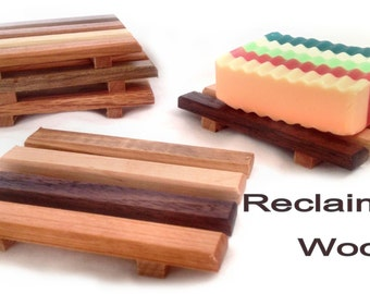 CRAZY LOW PRICE - 20 natural reclaimed wood soap dishes Under 1.25 each