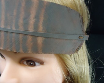 Hand Made Leather Feather Headband One of a Kind