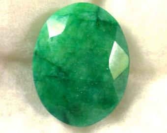 271.5 carat  .....  faceted emerald gemstone  ...  48 x 38 x 22 MM