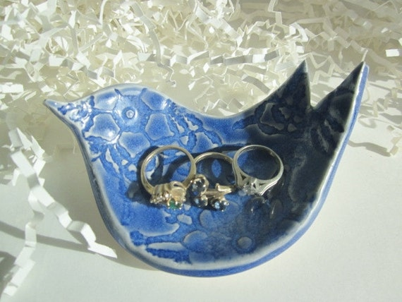 Royal blue Ring tray,  On Sale, gift for Nana, soap dish