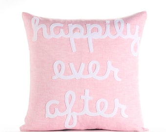 "Happily Ever After 22""x22"" Linen Pillow"