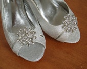 Bridal Shoe Clips Wedding shoeclips bridal shoes bling - Atomic Star