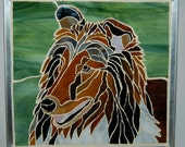 Collie in Glass Mosaics