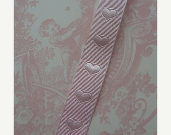 BIG SALE 3 Yards Sweetest Pink Heart Ribbon