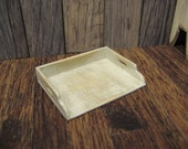 Primitive Stove Cover Handled Wood Board Topper Dollhouse Miniature Tray