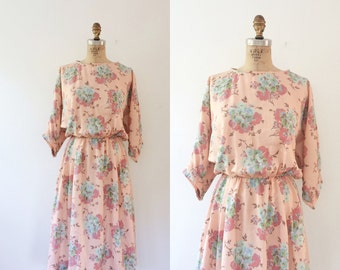 floral print dress / vintage cotton dress / Cottage Bouquet dress