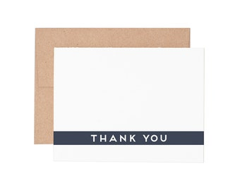 Boxed Cards - Simple Thank You Letterpress Greeting Cards - Boxed Set | Thank You Cards | Thanks