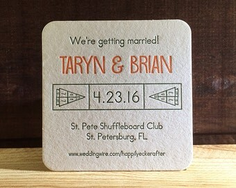 150 2-color Save the Date coasters