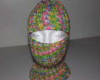 varigated yarn ski mask