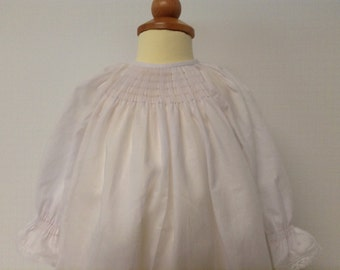 Ready to Smock Made to order Pima Batiste Pleated Front Infant Daygown